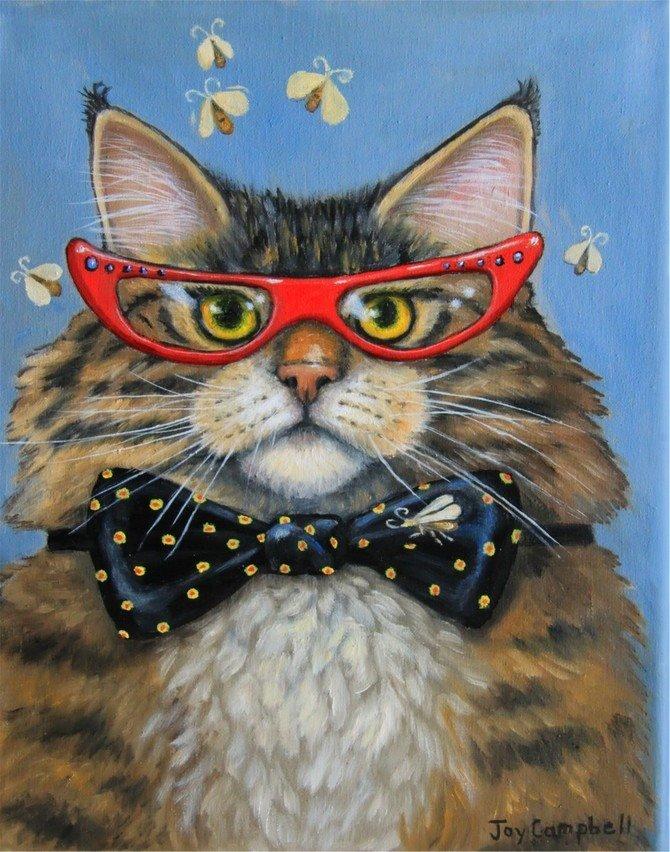 Картинки с прикольными арт котами