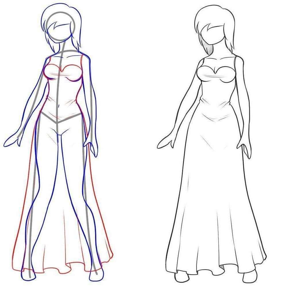 Рисунки как рисовать человека девушку в полный рост карандашом поэтапно