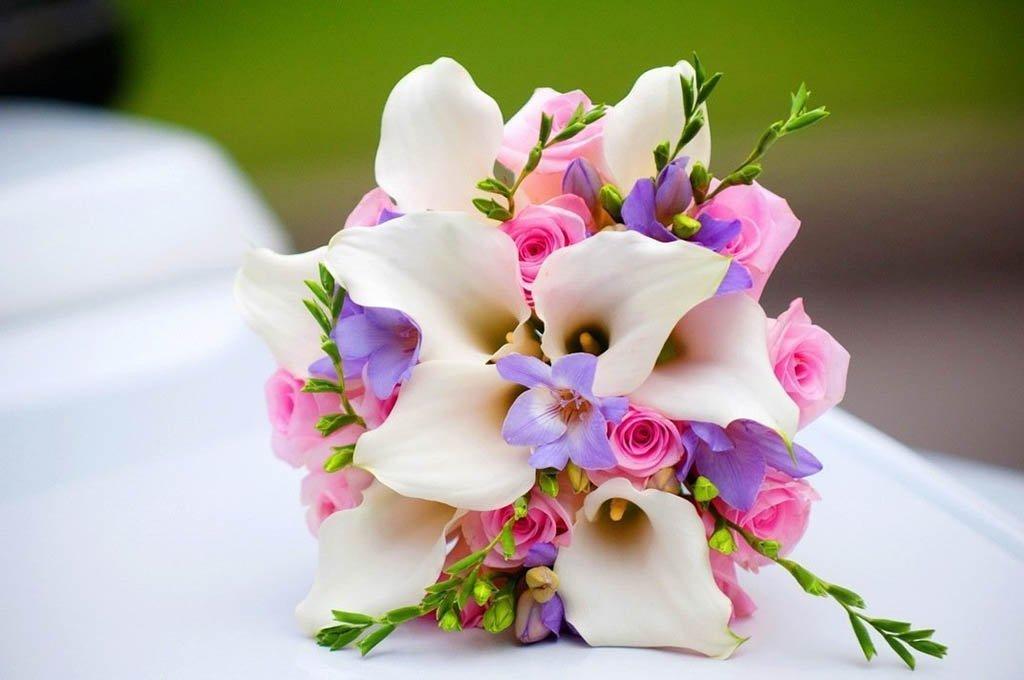 Цветов элегия, букет для невесты из калла