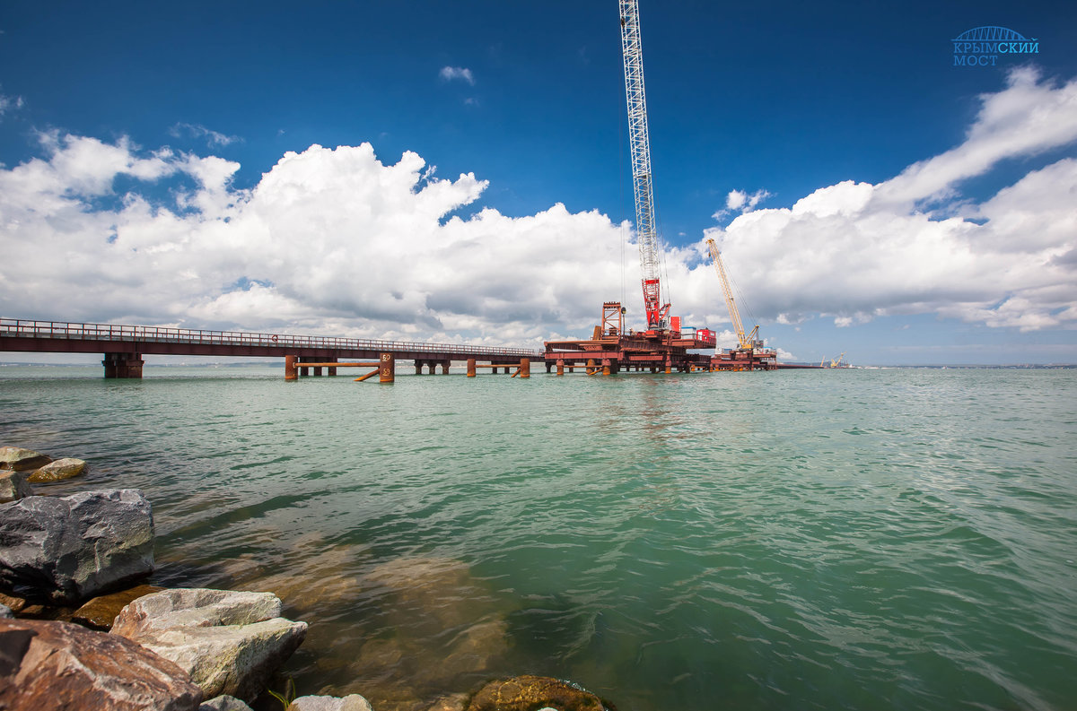 правильно фото строящегося моста через керченский пролив должного