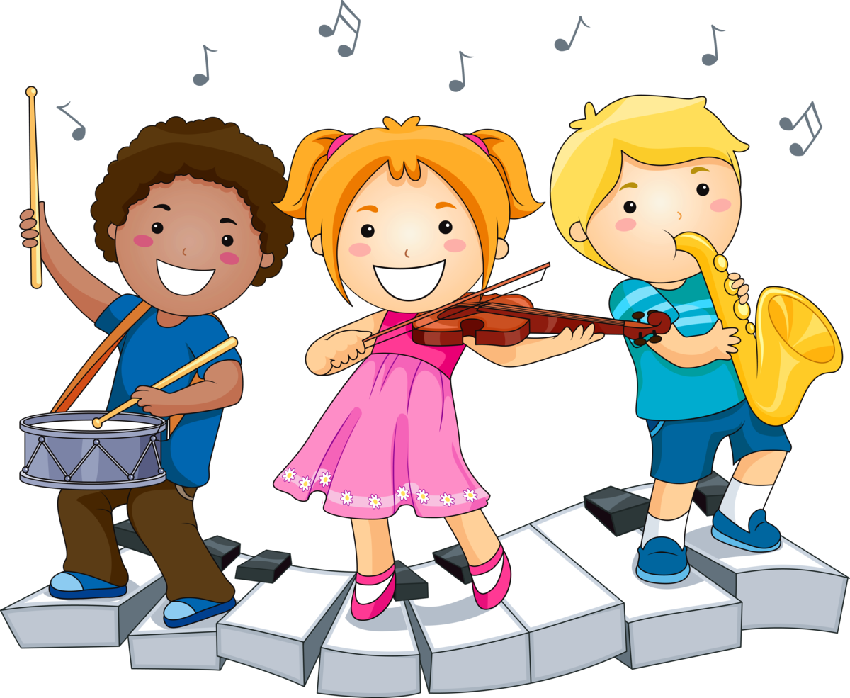 Дружба друзьям, дети играют на музыкальных инструментах картинки