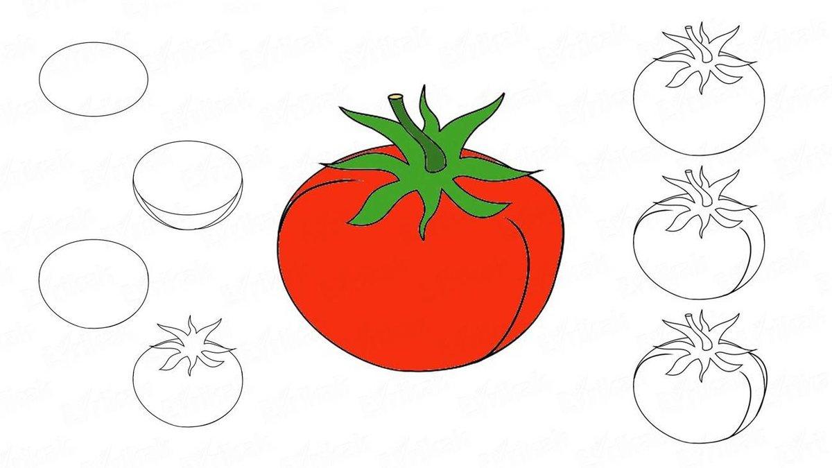 Картинки помидор для срисовки