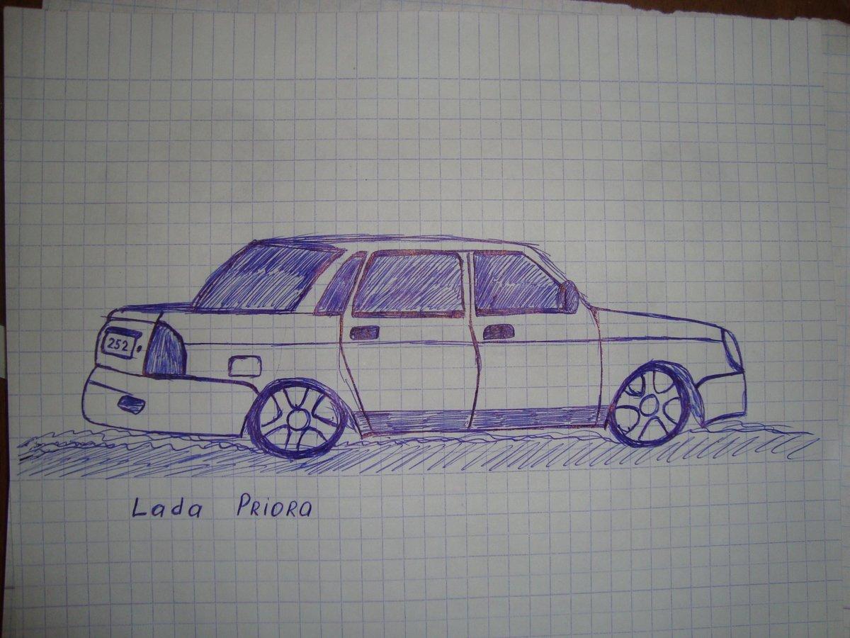 картинки как нарисовать машину по клеточкам