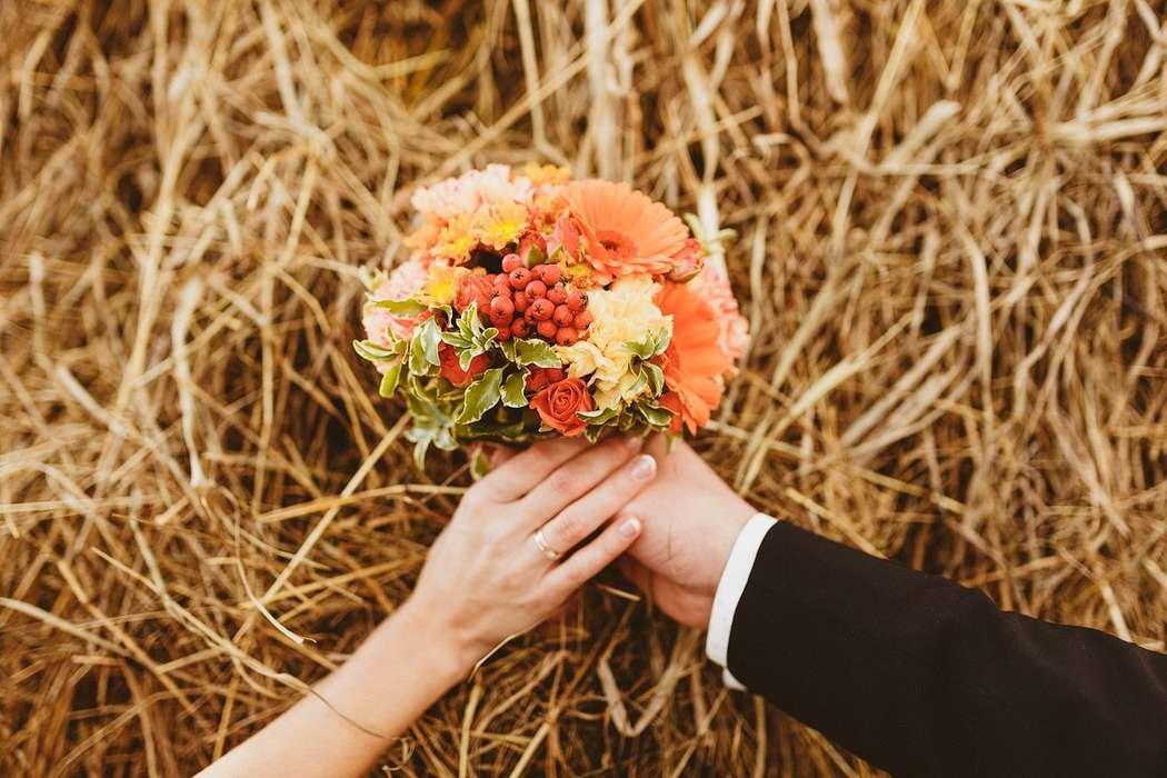 Свадьба осенью букет, цветы