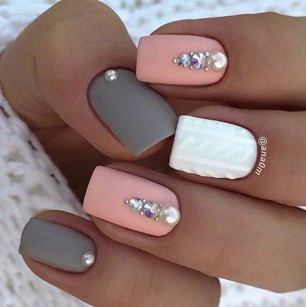 квадратные ногти дизайн 5