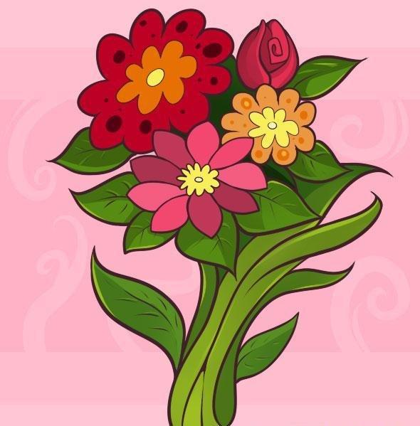 Букетик цветов картинки для детей, надписями когда