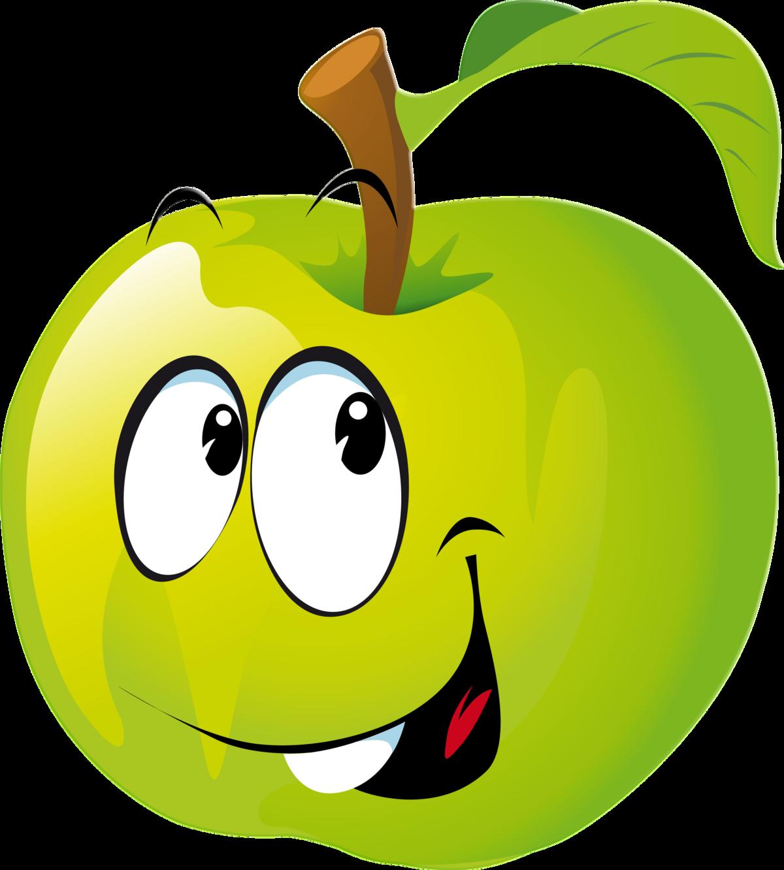 Картинка прикольное яблоко