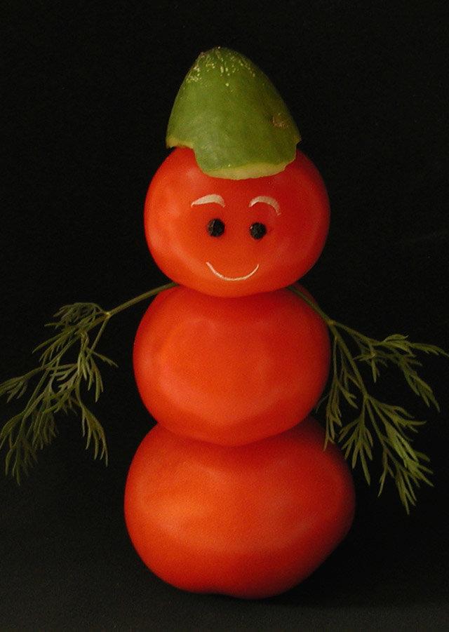 если делаем из овощей картинки ангела