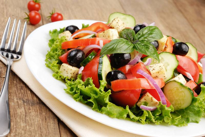 Греческий салат с рецепт