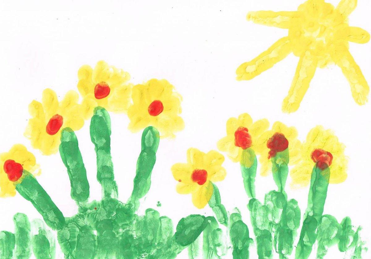Рисуем ладошками и пальчиками картинки