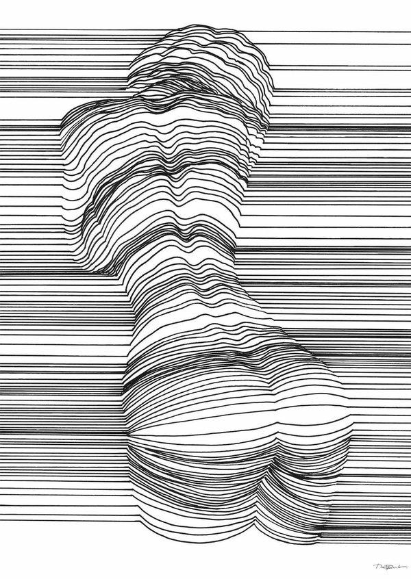 Картинки между линиями