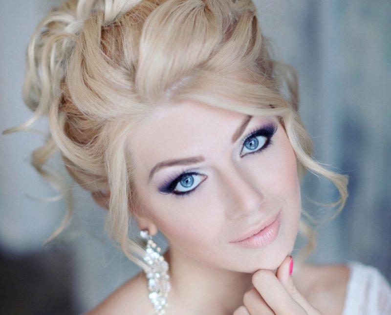 макияж на свадьбу для синих глаз фото литл блэк мне