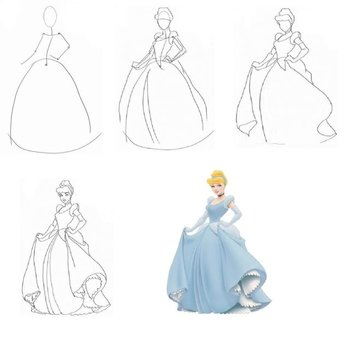 f976ffc09d0 Как нарисовать девушку в бальном платье карандашом поэтапно  текст при  наведении
