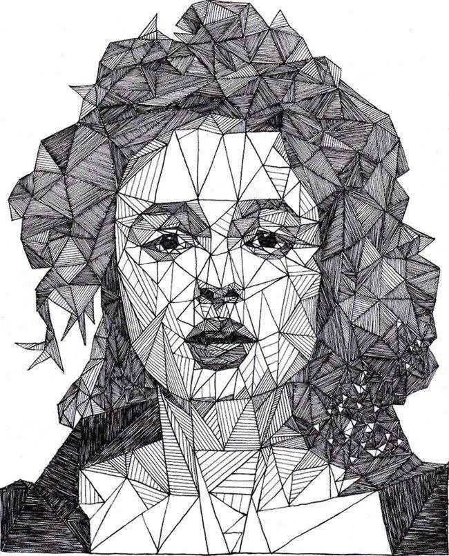 Криштиано роналдо, картинки из треугольников для подростков современные