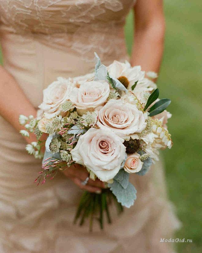 Свадебный букет маленький недорого, для первоклашки