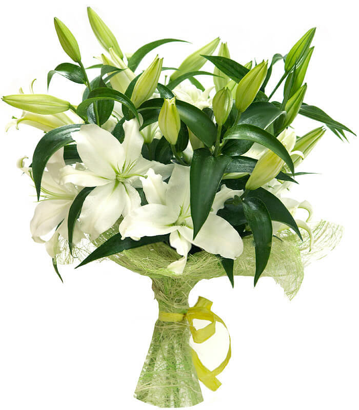 Букет из лилий, цветы