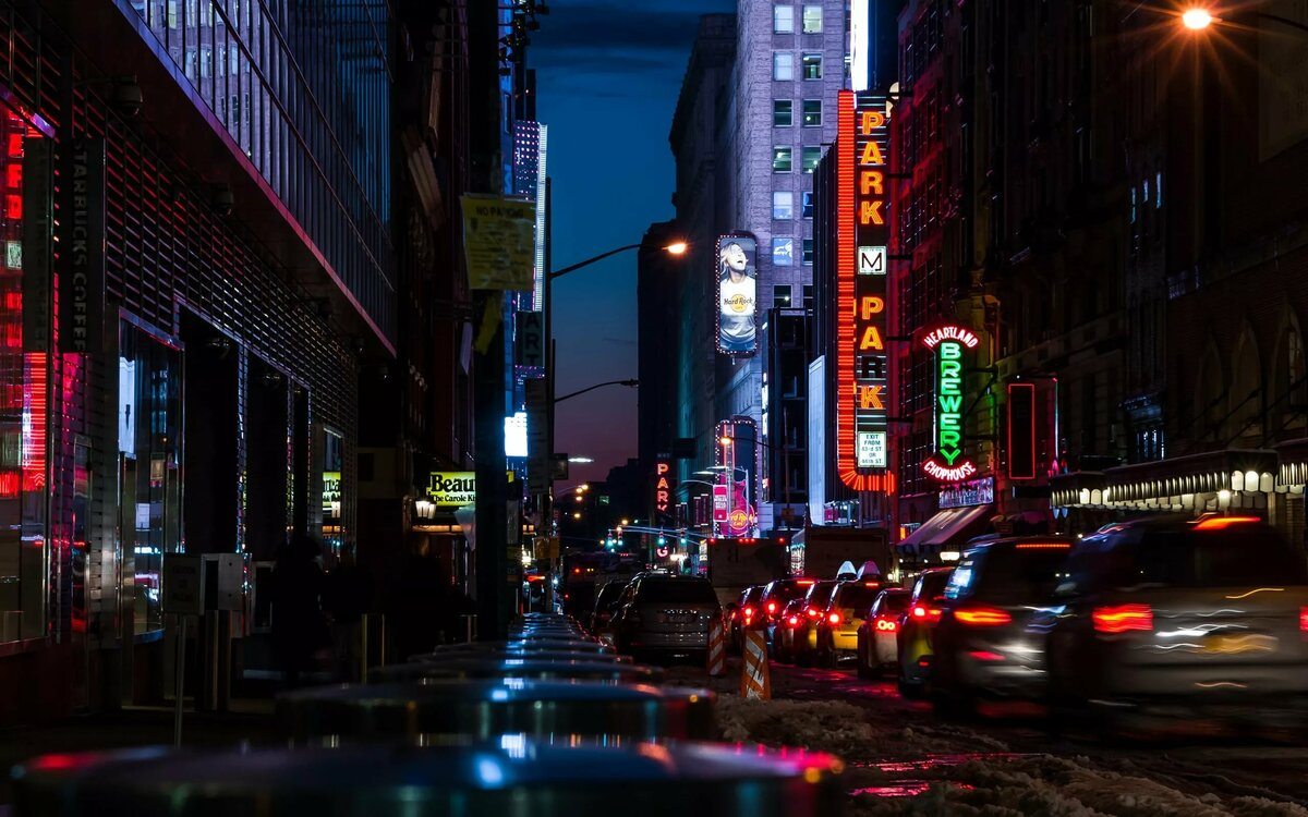 Картинки ночного города улиц