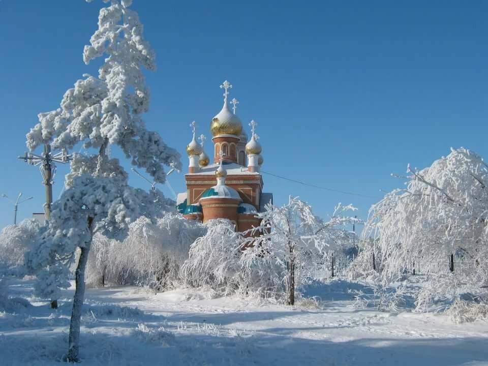 трубных зимние церквушки картинки провести