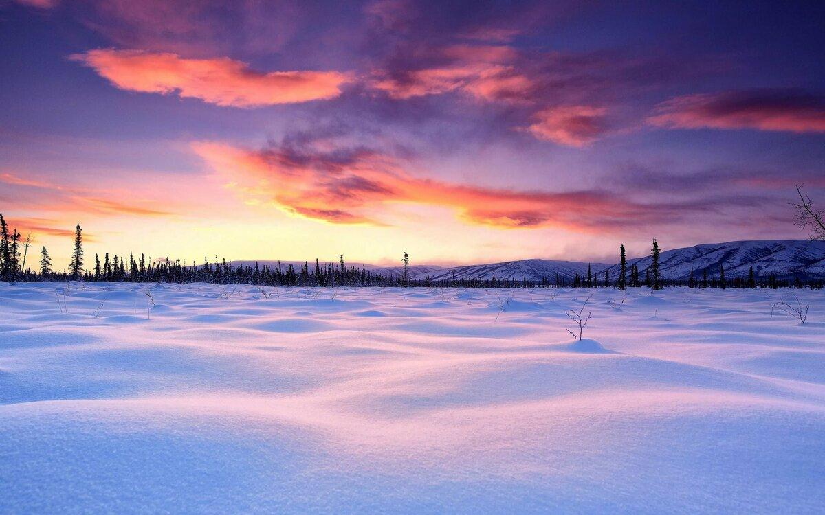 закат в снегах картинки этом разделе