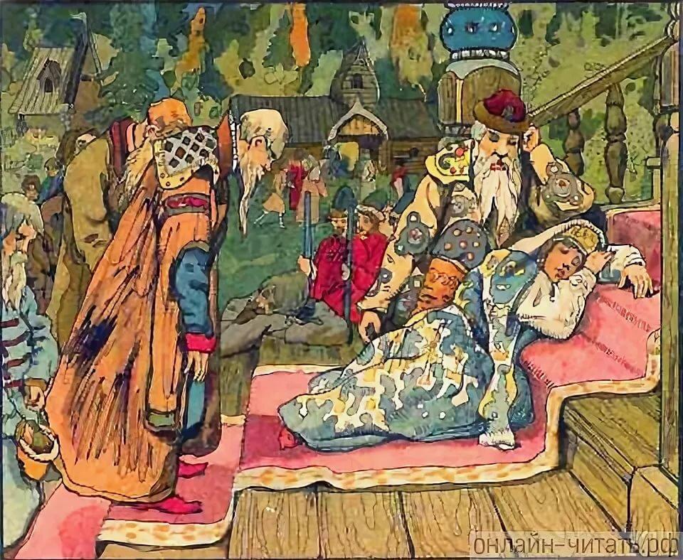 крепкий, иллюстрации к произведению жуковского спящая царевна история произошла моей
