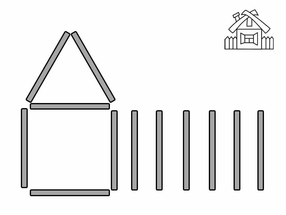 Схемы картинок из палочек