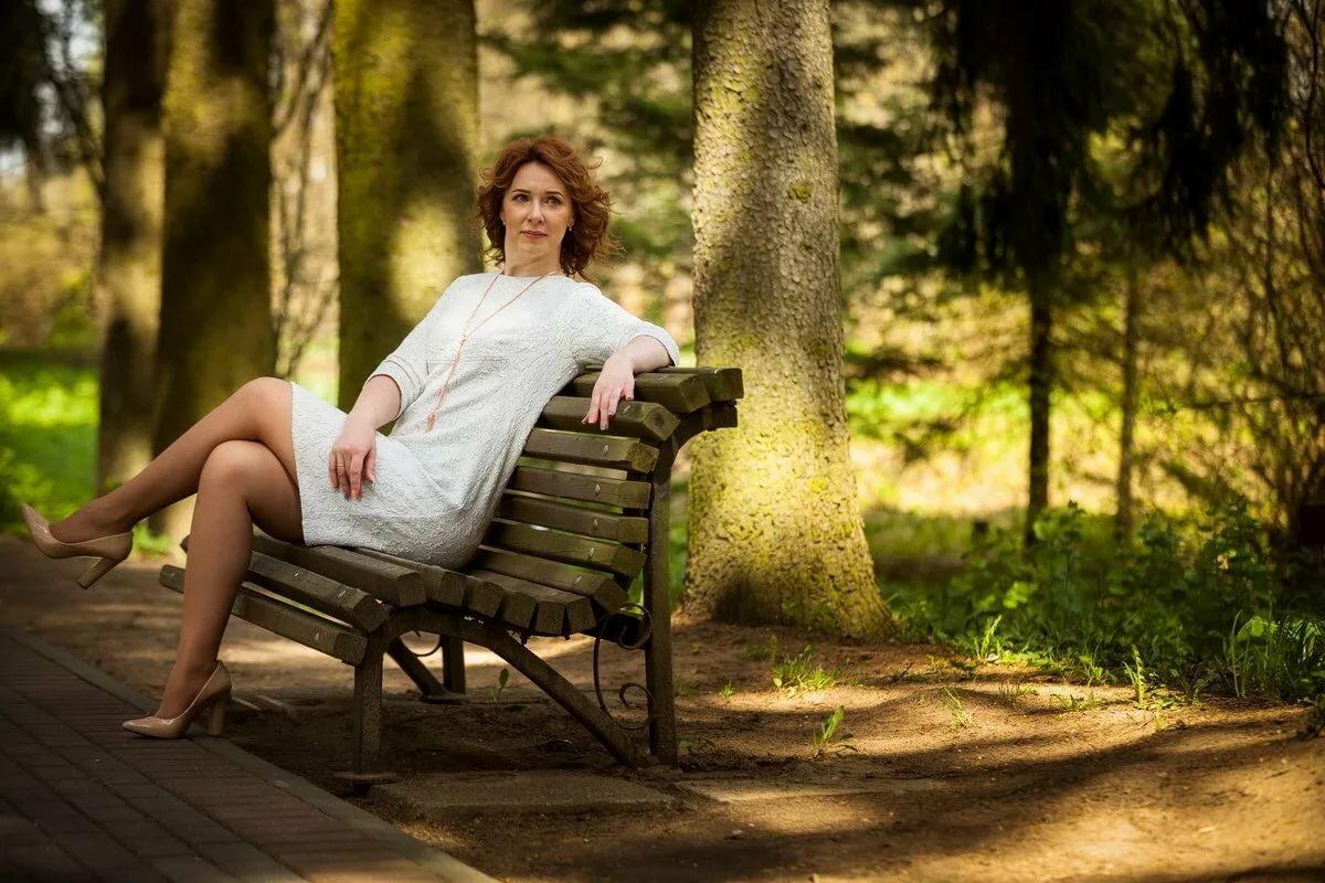 как сделать красивое фото на скамейке очень подробно