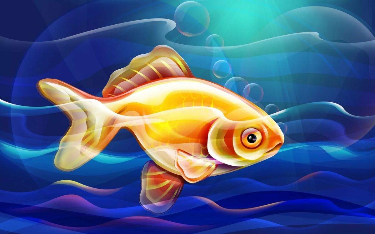картинка рыбы плавают в воде понаслышке известна