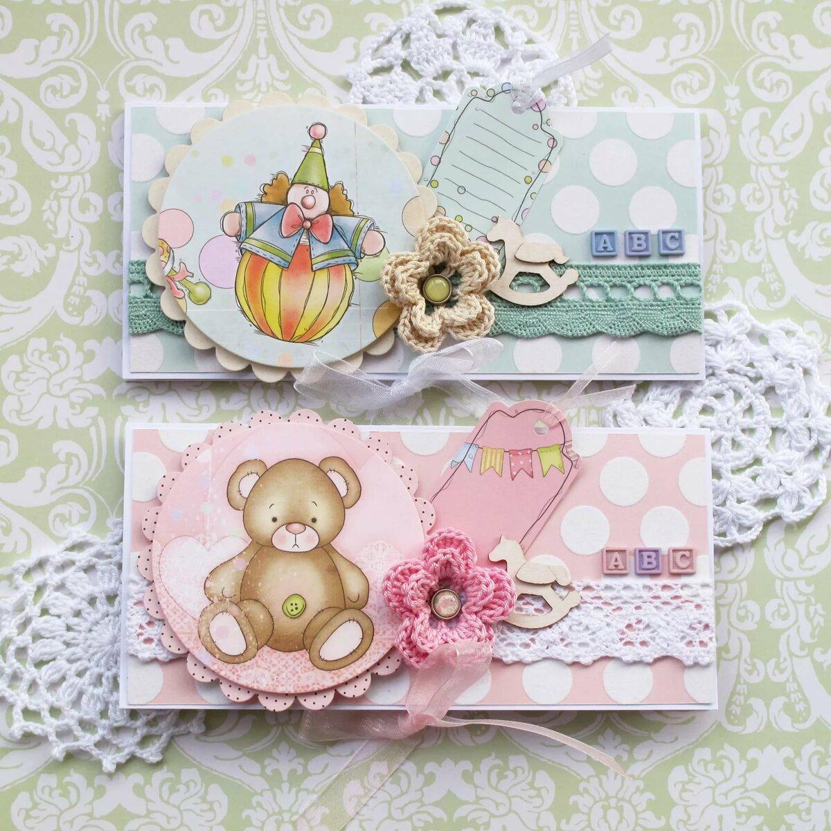 скрапбукинг открытка дочке