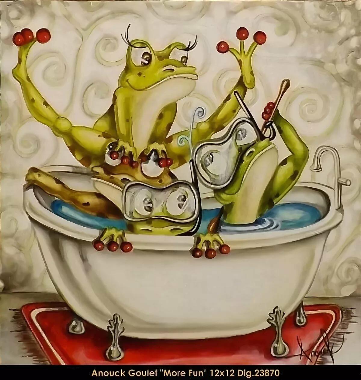 Смешные жабы рисунки