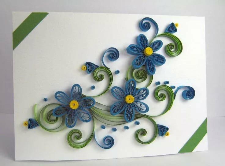 Маленькие открытки с квиллинга