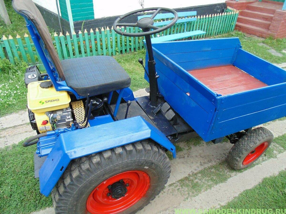 картинки самодельного трактора управления