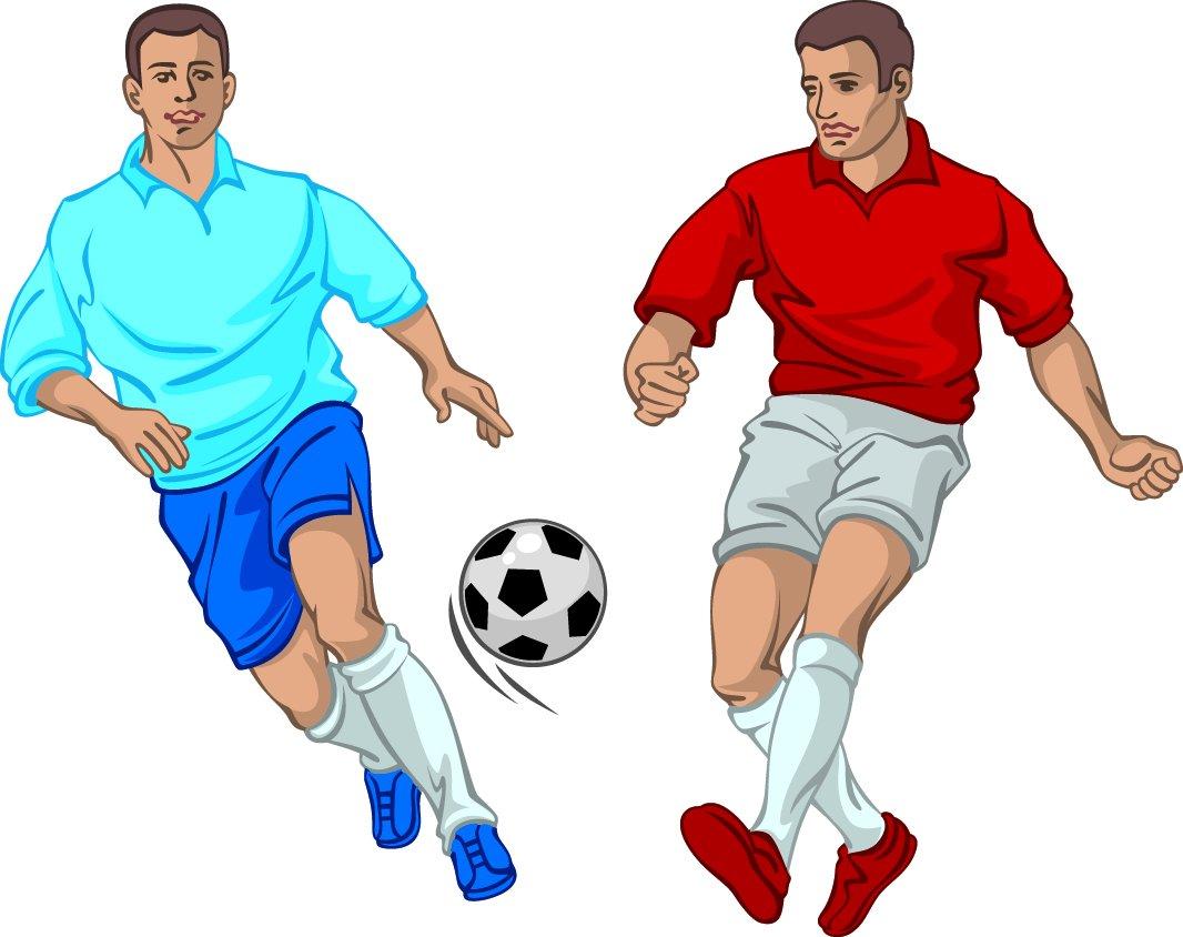 Рисунки футболисты с мячом