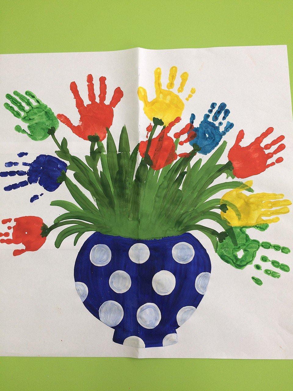 Картинки из ладошек в детском саду
