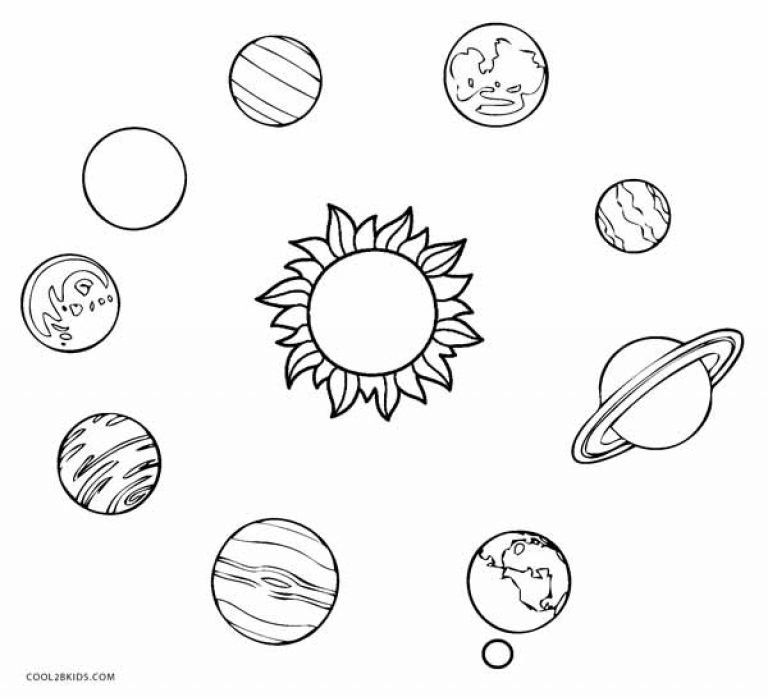 solar system coloring pages - 768×697