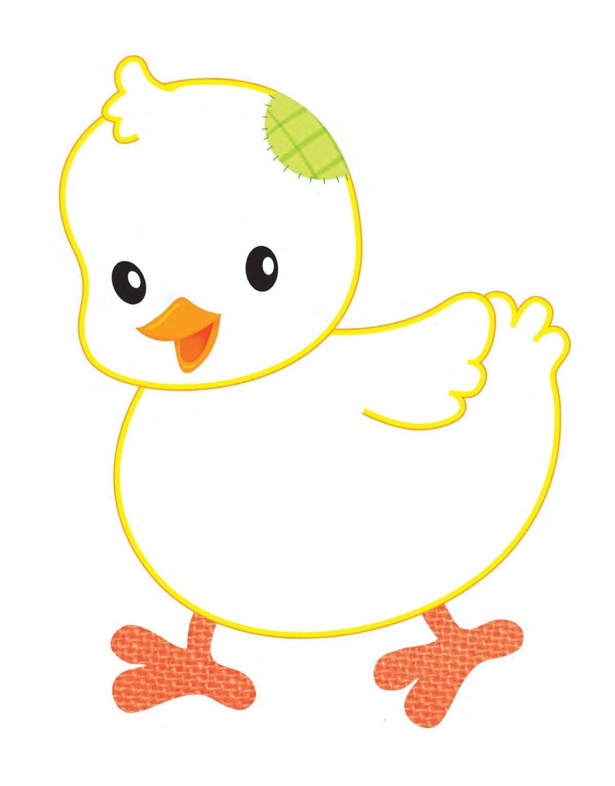 Картинки цыплят для рисования раз