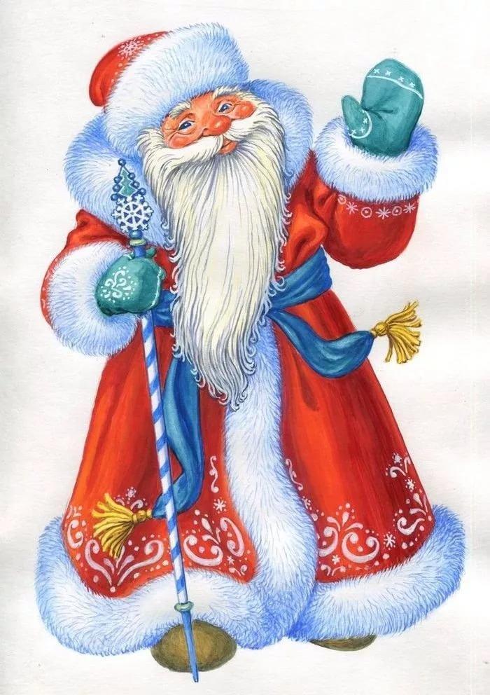 Картинки на новый год рисованные