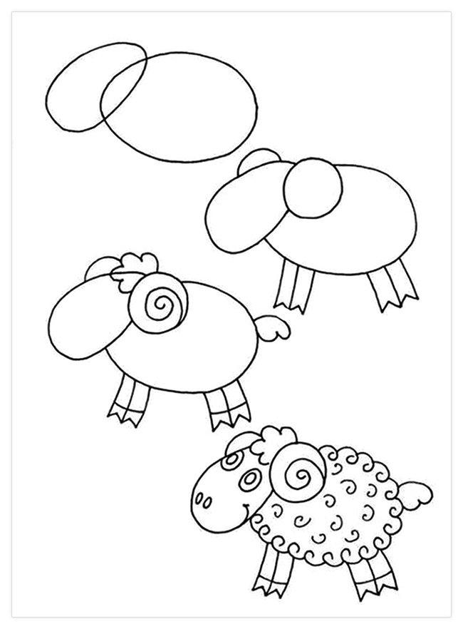 Рисовать картинки для детей легкие, краски