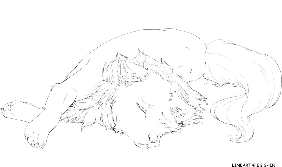 30 wolf lineart by kipine on deviantart free wolf lineart card
