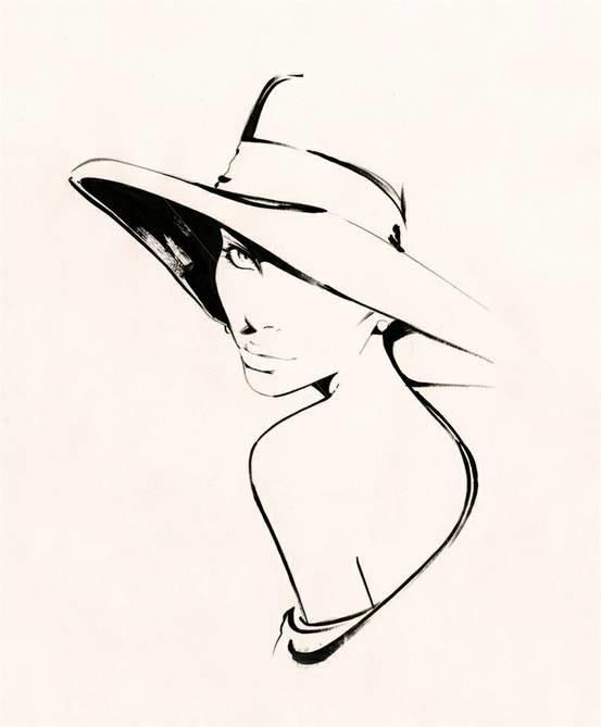 следует человек в шляпе картинки карандашом вас