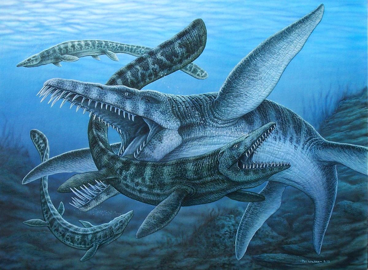 морской динозавр картинка также