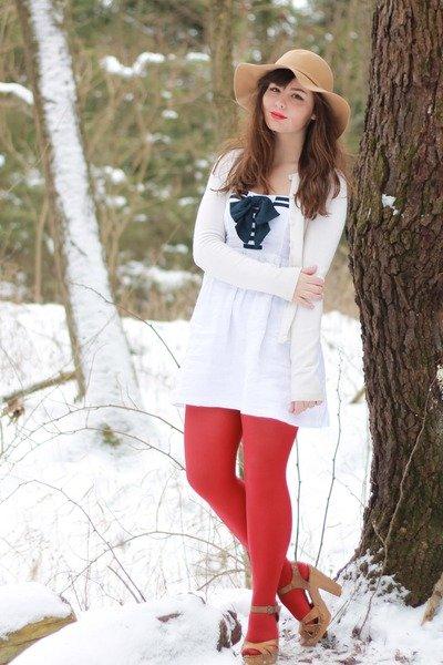 Девушка в красных колготках, фото секса женщин в телесах
