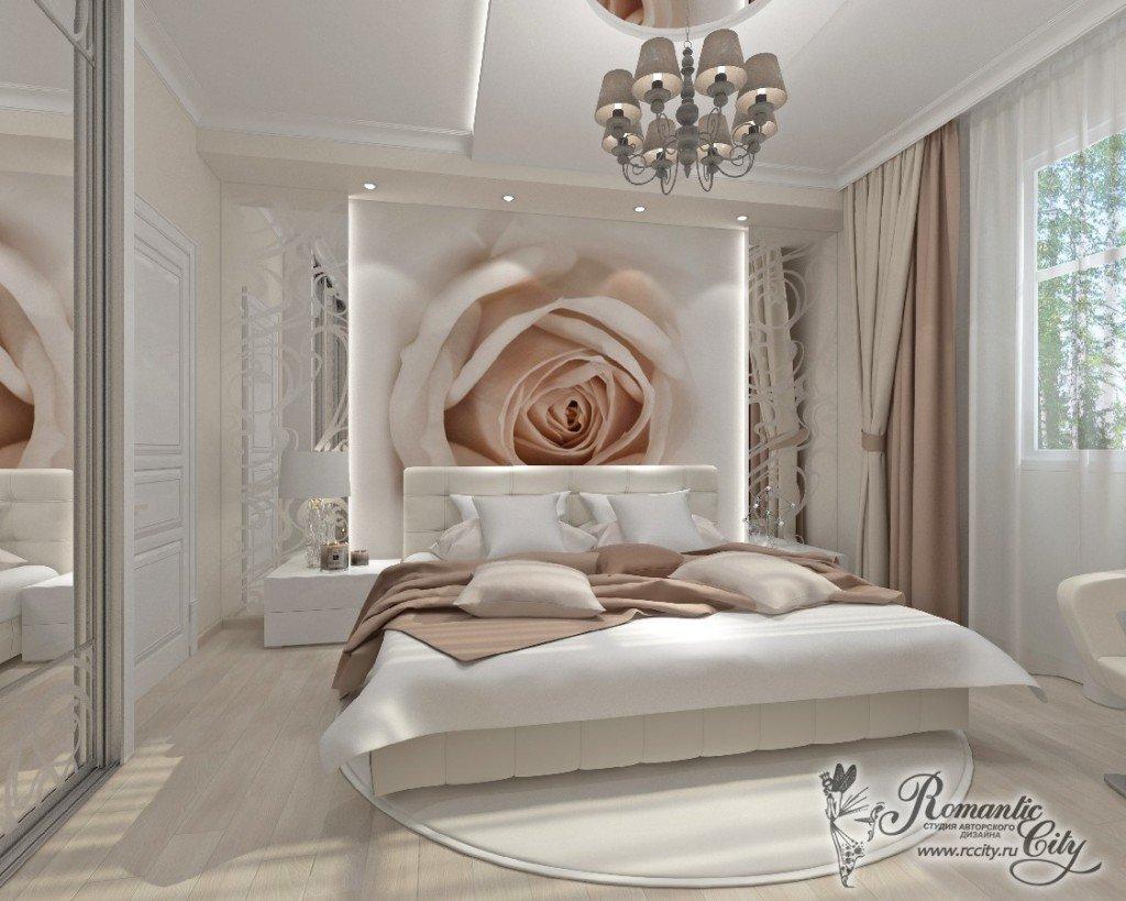 фотообои над кроватью с закругленной спинкой фото строительство