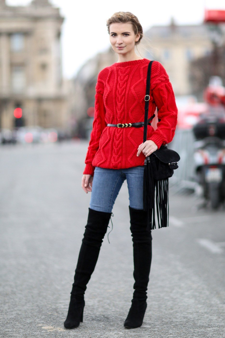 с чем носить красный бадлон фото радости