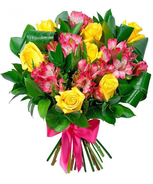 Маши днем, доставка цветов по миру с открытками