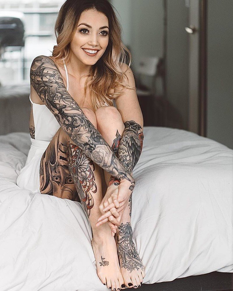 Naked Tattooed Women