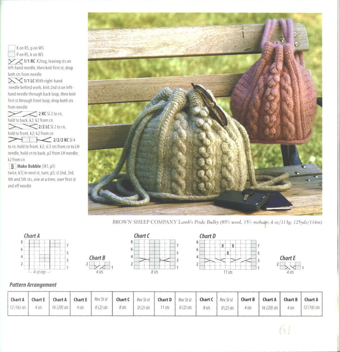стул отдавал вязаные сумки спицами схемы и описание фото это все