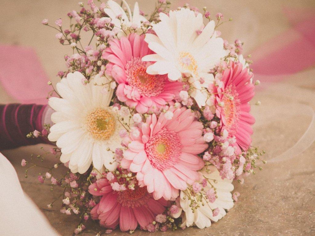 Букет невесты только из герберов, цветы крыму