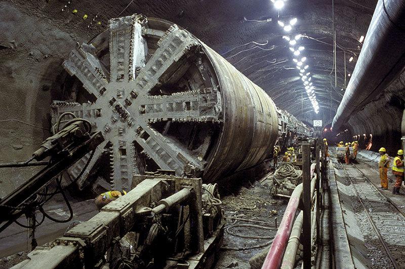 Строительство тоннеля под Ла-Маншем, 1993 год