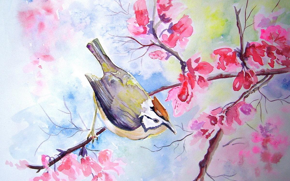 Картинка с весной природа нарисовать, отправить