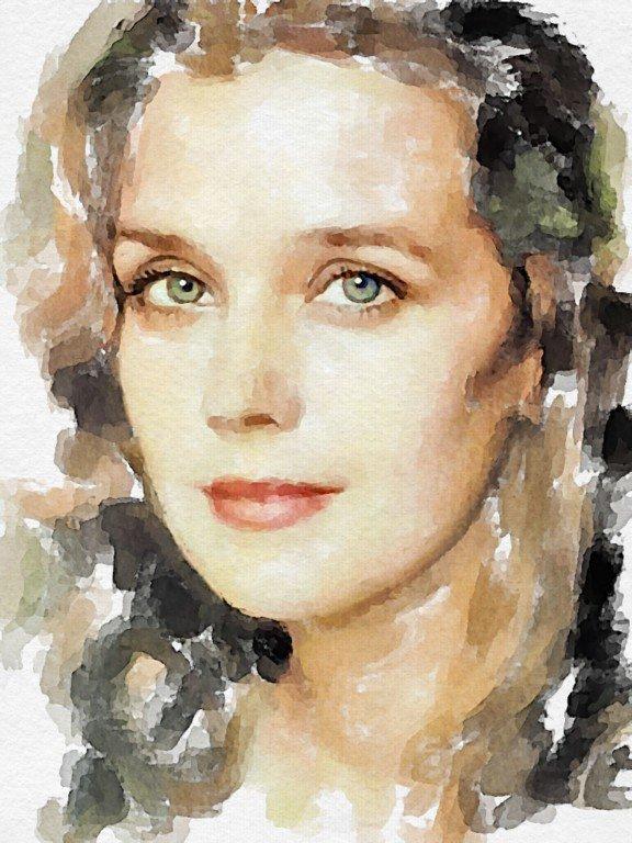 портрет акварелью пошагово фото женского